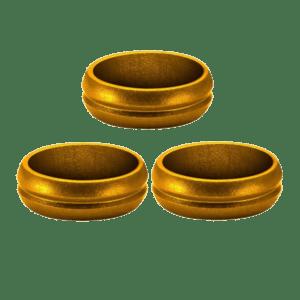 Bull's Shaft Rings Gold