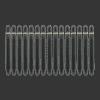 5-Pack Nylon Shaft Medium + Ring (Zwart)